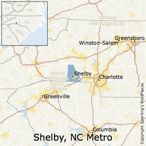 Shelby,North Carolina Metro Area Map