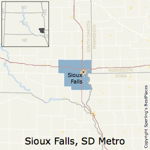 Sioux_Falls,South Dakota Metro Area Map