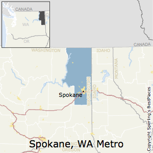 Spokane-Spokane_Valley,Washington Metro Area Map