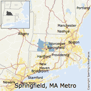Springfield,Massachusetts Metro Area Map