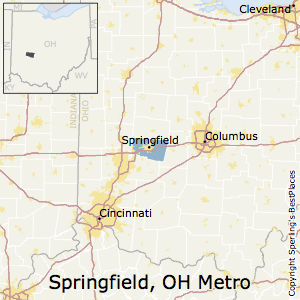 Springfield,Ohio Metro Area Map