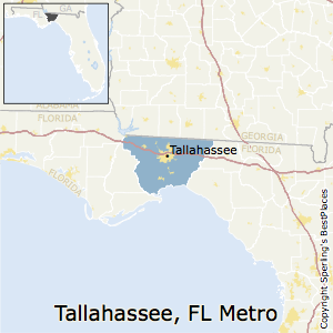 Tallahassee,Florida Metro Area Map