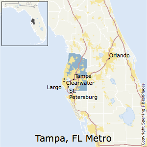 Map Of Florida Clearwater.Best Places To Live In Tampa St Petersburg Clearwater Metro Area
