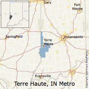 Terre_Haute,Indiana Metro Area Map
