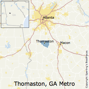 Thomaston,Georgia Metro Area Map