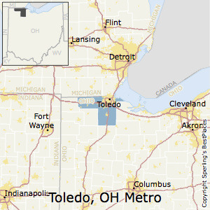 Toledo,Ohio Metro Area Map