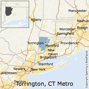 Torrington,Connecticut Metro Area Map