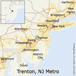 Trenton,New Jersey Metro Area Map