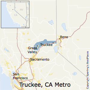 Truckee-Grass_Valley,California Metro Area Map