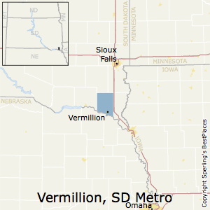 Vermillion,South Dakota Metro Area Map