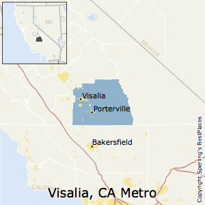 Map Of California Visalia.Best Places To Live In Visalia Porterville Metro Area California