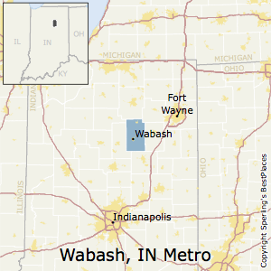 Wabash,Indiana Metro Area Map