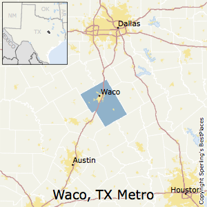 Waco,Texas Metro Area Map