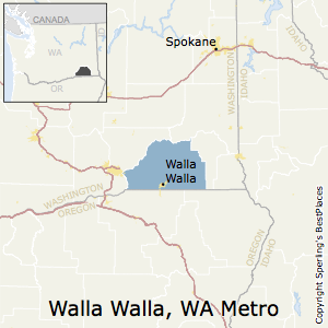 Walla_Walla,Washington Metro Area Map