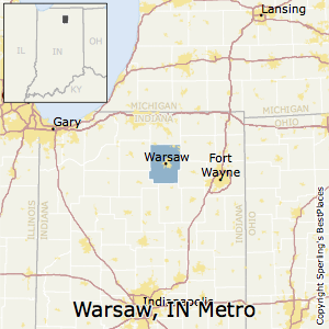 Warsaw,Indiana Metro Area Map