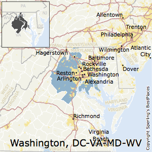 Washington-Arlington-Alexandria,District of Columbia Metro Area Map