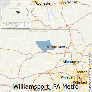 Williamsport,Pennsylvania Metro Area Map