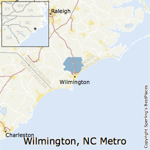 Wilmington,North Carolina Metro Area Map
