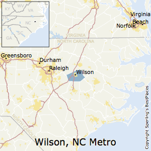 Wilson,North Carolina Metro Area Map