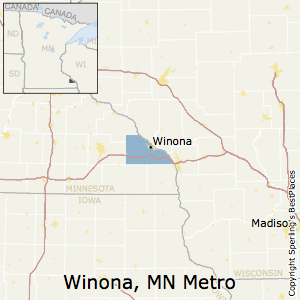 Winona,Minnesota Metro Area Map