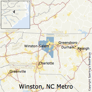 Winston-Salem,North Carolina Metro Area Map
