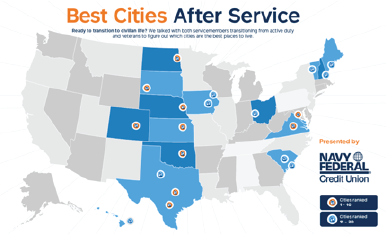 Navy Federal Releases Best Cities After Service