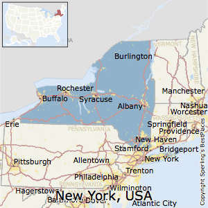 Cities In New York State Map.New York Cost Of Living
