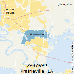 Prairieville,Louisiana County Map