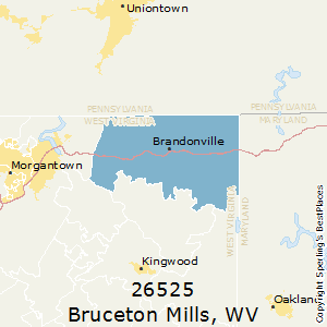 Bruceton_Mills,West Virginia County Map