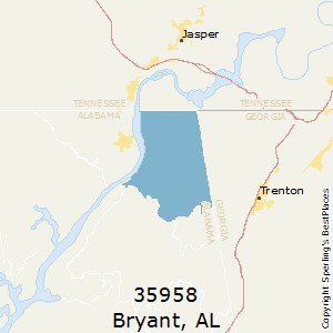 Bryant,Alabama County Map