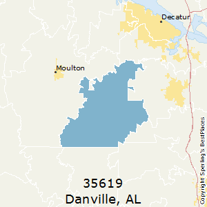 Danville,Alabama County Map