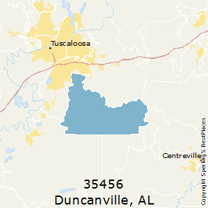 Duncanville,Alabama(35456) Zip Code Map