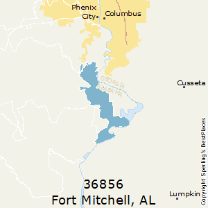 Fort_Mitchell,Alabama County Map