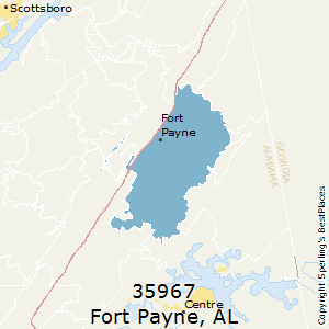 Fort_Payne,Alabama County Map