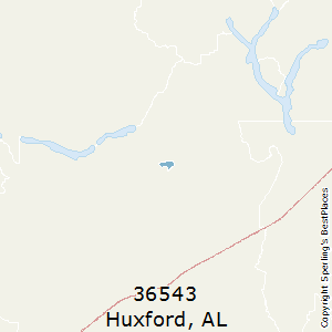 Huxford,Alabama County Map