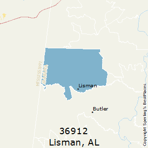 Lisman,Alabama County Map