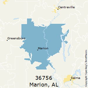 Marion,Alabama County Map