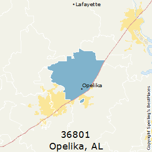 Opelika Zip Code Map.Best Places To Live In Opelika Zip 36801 Alabama