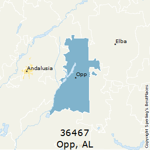 Opp,Alabama County Map