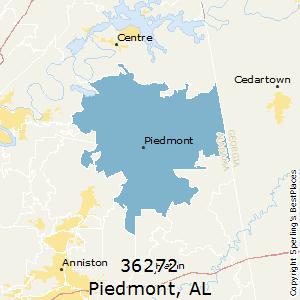 Piedmont al zip code