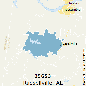 Russellville,Alabama County Map