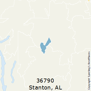Stanton,Alabama County Map