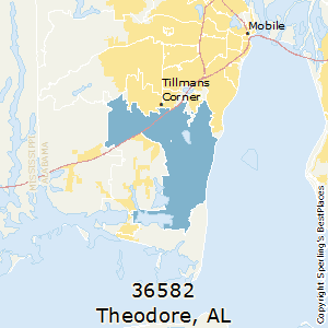 Theodore,Alabama County Map