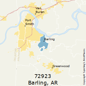 Barling,Arkansas(72923) Zip Code Map