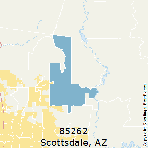 Scottsdale,Arizona(85262) Zip Code Map