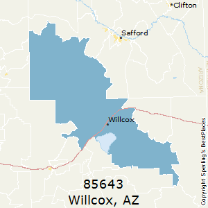 Willcox,Arizona County Map