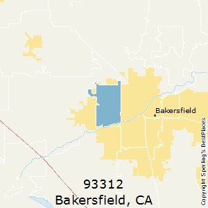 Bakersfield,California County Map