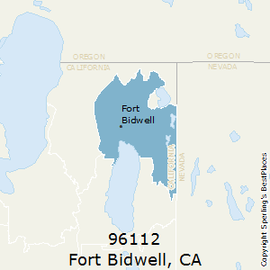 Fort_Bidwell,California County Map