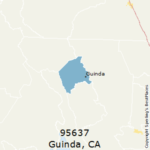 Guinda,California County Map