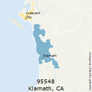 Klamath,California County Map